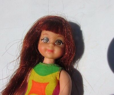 Vintage Barbie Tutti Chris Doll Rare Redhead in Original Outfit Beauty 1966