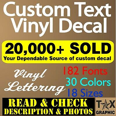 CUSTOM Vinyl Lettering Decal  Personalized  Window Text  Name Sign Sticker