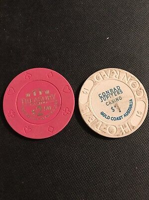 Poker Casino Real Chips. 2x. Older Looking Ones.
