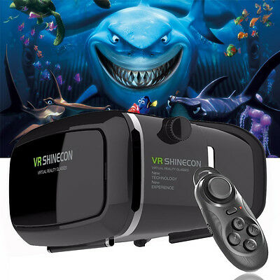 3D VR Headset Glasses Virtual Reality Mobile Phone Video for iPhone 6/6s 5 5S