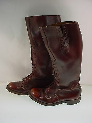 Vintage Leather Riding Boots Equestrian Cavalry Military Boots  9 1/2 E