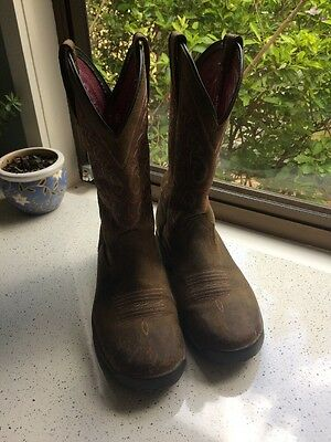 Ariat terrain Western Boots. Size 7 Women's.  Rustic Finish. Brown.