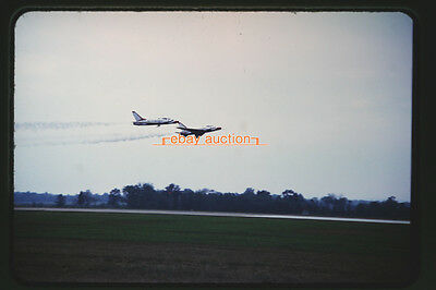 Orig. 1967 Slide, USAF Thunderbirds North American F-100D Super Sabre Aircraft