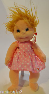 "Collectible TY BEANIE KIDS Retired PRECIOUS 2000 10"" Sundress Spikey Blonde Hair"