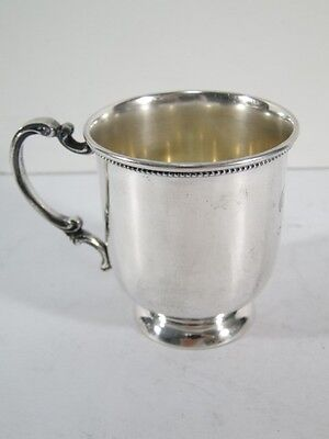 Antique Hartford Silver Company HS Sterling Silver Baby CUP Mug