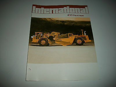 1972 International 433 Pay Scraper Sales Brochure Catalog.  * More Listed*