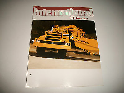 1972 International Model 431 Pay Scraper  Sales Brochure Catalog. * More Listed*