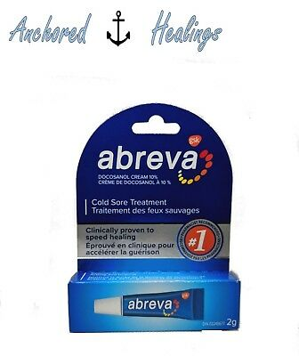 Abreva Cold Sore TUBE Treatment Docosanol Cream 10% 2g Expires 09/2020