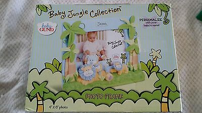 "Baby jungle collection personalized photo frame 4""×6"" Brand new"
