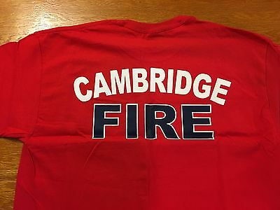 Fire Department Tee T Shirt: Red Large New