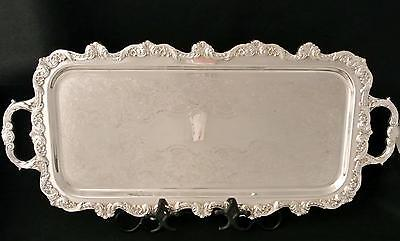Vintage Silver Plate Beverage Tray Serving Tray By Poole Silver Co Old English
