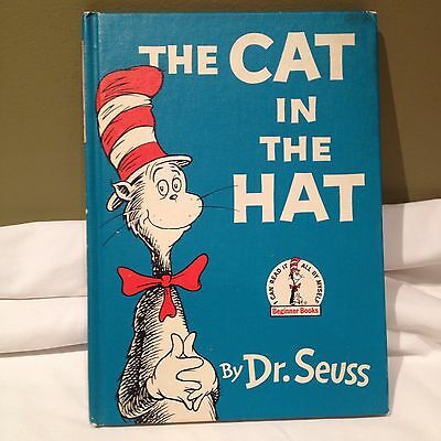 "Vintage 1957 BOOK CLUB EDITION OF  "" THE CAT IN THE HAT "" BY DR. SEUSS"