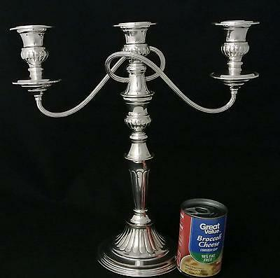 English 3 Light Conbination Candelabra Hand Chased Ep Over Copper Candle Holder