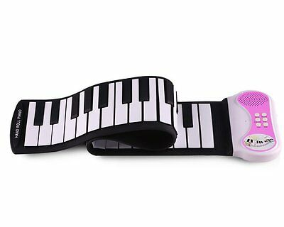 Konix PN49S MIDI OUT 49 Keys Roll Up Electronic Piano Pink for Christmas Toys