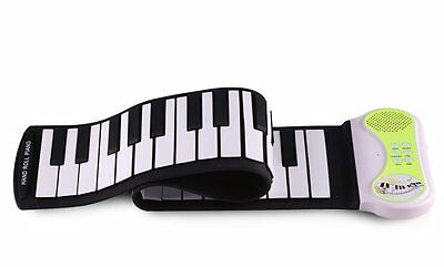 Konix PN49S MIDI OUT 49 Keys Roll Up Electronic Piano Green for Christmas Toys