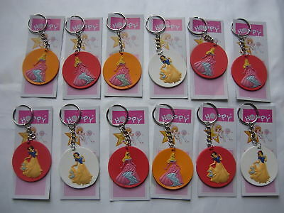 12 Keyrings for Children's Girl's Party Loot Present Gifts Bags, Pri