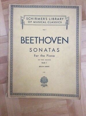 Schirmer's Library Musical Classics Beethoven Sonatas  Piano Book 1 (issued1939)