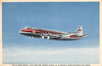 Trans - Canada Air Line, Turbo - Prop Viscount Skyliner, Plane Postcard, Canada