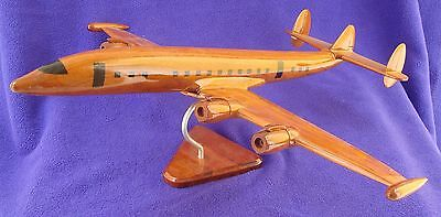 Wooden Lockheed Constellation Connie Airplane Model Wood USED