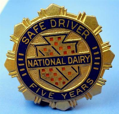 VTG 1/20-10K GF Service Pin NATIONAL DAIRY SAFE DRIVER 5 YEARS (So.Cal.?) ME2841