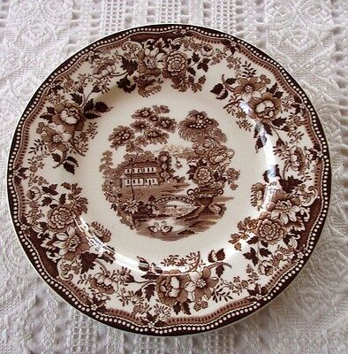 "1-Royal Staffordshire Brown ""Tonquin"" Clarice Cliff, 10"" Dinner Plate-England"