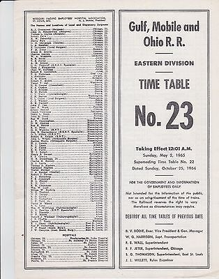 Gulf Mobile & Ohio - Eastern Division - No 23 - May 1965