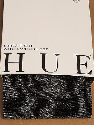 Hue Lurex Tight with Control Top, Black/Gold, M/L