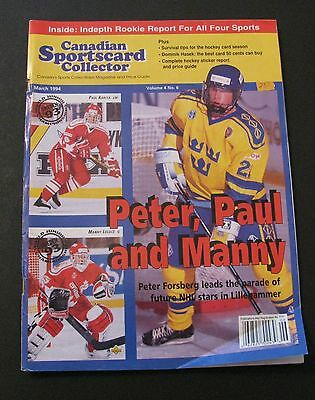 Canadian Sportscard Collector Hockey Magazine 1994 / Peter Forsberg On Cover