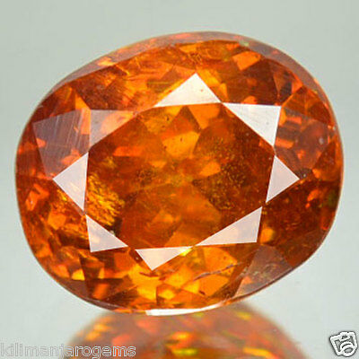 2.23 Cts Natural Sphalerite Sunset Orange Oval Cut Spain Gem (FREE SHIPPING)