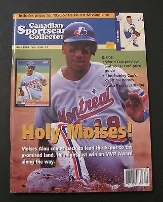 Canadian Sportscard Collector Hockey Magazine 1994 / Moises Alou On Cover