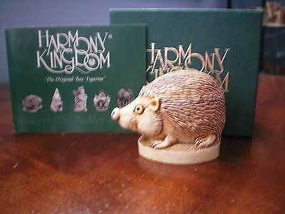 Harmony Kingdom Untouchable Hedgehog UK Made Marble Resin Box Figurine Artist SG