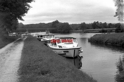 Photo  France Canal 1987 Canal Du Nivernais Nr Ecluse Bailly Boat