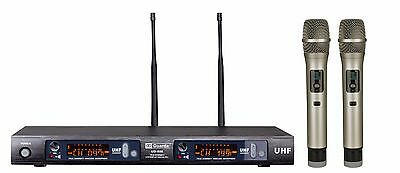 Guarda Audio 2x100 Channel UHF Digital Wireless Hand Held Microphone System