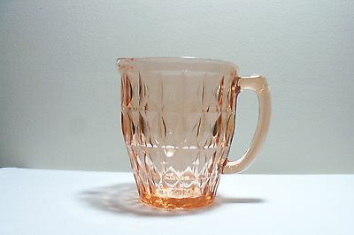 Pink Depression Glass Windsor Pitcher Jeanette Glass