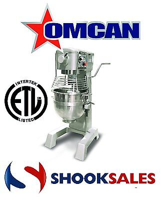 Omcan 20442 30qt GENERAL PURPOSE Mixer with Guard 3 attachments ETL New York