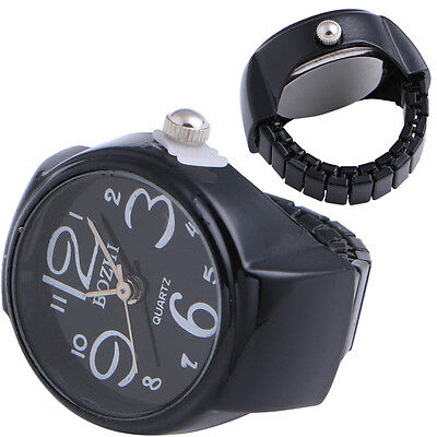 Round Metal Creative Numerals Finger Ring Watch Table Quartz Unisex 22MM Hot