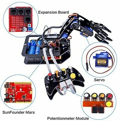 DIY Robot Robotic Arm Kit 4 Axis Control Wired Controller Arduino Kids Hobby New