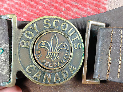 1950s Boy Scouts of Canada Scout Belt Size 32 traded for at a Jamboree [PA173]