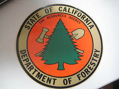 Old CDF department of forestry / tomato style Decal large 12 inch