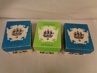 Vintage 3 Boxes Of Leningrad (Ussr) Slides With Viewers-              (Su)