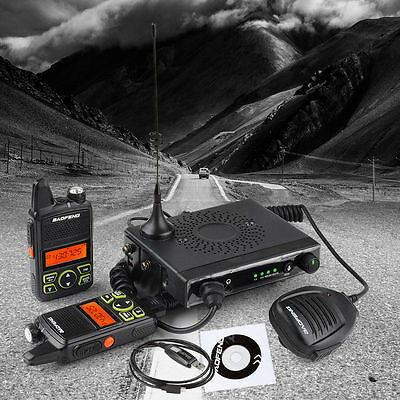Baofeng MINI-1 Mobile Car Radio 15W Walkie Talkie UHF400-470MHz 20CH +Cable & CD