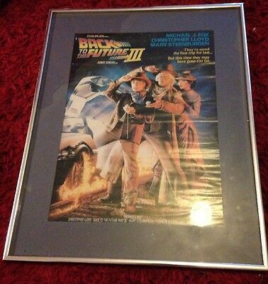 Original Back To The Future Movie Poster Framed Mounted Not Repro