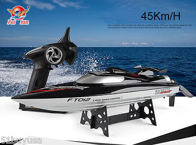 FeiLun FT012 45KM/H HIGH SPEED BOAT 2.4GHz 4CH Brushless RC Racing Boat Kids Toy