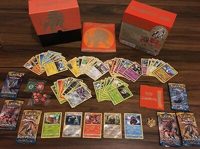 Pokemon Sun And Moon Elite Trainer Box 55 Cards Book Counters Coin NO DUPLICATES