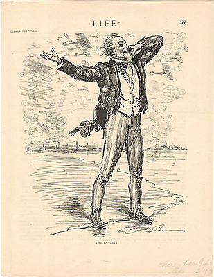 """1918 Life Magazine Print Uncle Sam """"The Eaglets"""" Art by Charles Dana Gibson"""