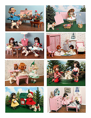 Vintage Ginny Doll 'Growing Up' Greeting Cards