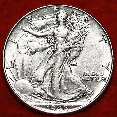Uncirculated 1946 Philadelphia Mint Silver Walking Liberty Half Free S/H