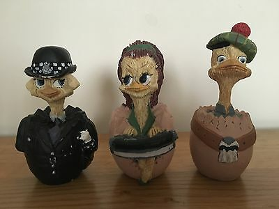 Vintage Collection Of Malcolm Bowmer Egg Characters Eggbert Bundle X 3