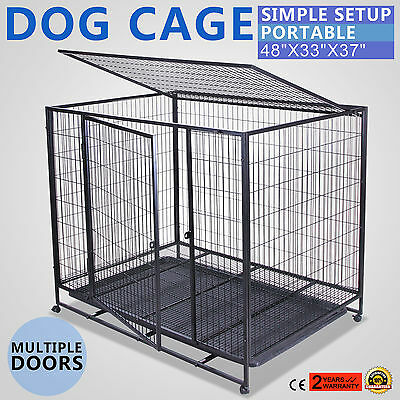 1.25M Cage Box Caisse De Transport Chien Pliable Pliable Nouvelle GREAT ON SALE