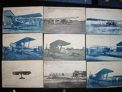 Aviation Lot Cartes Postales Anciennes